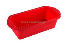 Custom food grade silicone loaf pan and silicone baking pan
