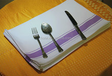 Good-looking 100% cotton table napkin purple stripe for hotel home and restaurant napkin