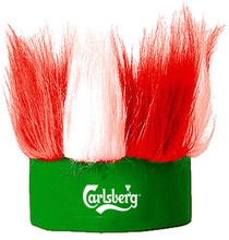 Mohawk Wig Hat 2014 Brazil World Cup Football National Fans soccer Half head Golf Headwear Hat Cap QPWG-2075