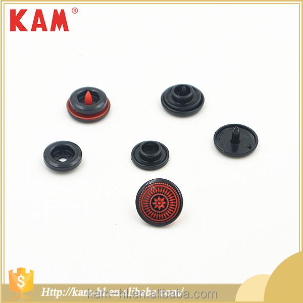 Moda de plástico colorido prensa de vestir botón de la joyería
