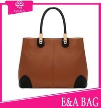 2015 Hot sale japanese design women'fashion color block bags real leather handbags designer handbag
