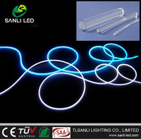 Solid core fiber optic outdoor lighting cable for pool light