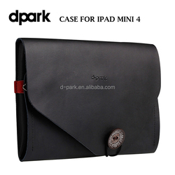 Vintage leather case for iPad mini 4 tablet covers and cases manufacturer