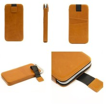"Cheap price genuine leather 4.7"" mobile phone cover protective case"