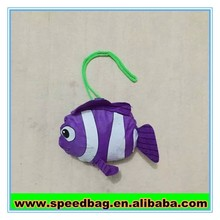 210D polyester Fish style hanging tote bag funny shopping bag foldable