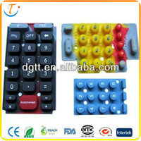 Functional custom silicone rubber keypads