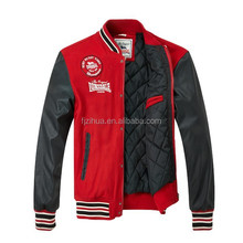 2015 Padding Leather jacket Winter for Men's baseball jacket fashion warm up