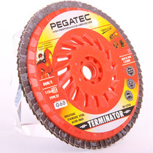 brake disc for polishing machine with MPA Z-11391 flap disc