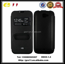 top grade flip leather case, pu leather case for mobile phone Tecno H5