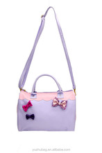 Alibaba China long strip shoulder hand bag with bow