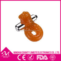 Animial shaped Strong Vibration Penis Enlarger Cock Ring Sex toy for Boys