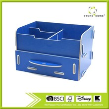Two Desktop Wooden Storage With Drawer, Cosmetic Storage