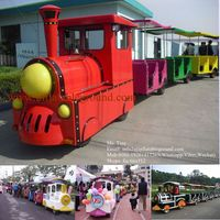 2015 Low Price Fwulong Thomas Amusement Park Electric Tourist Trackless Train for Sale