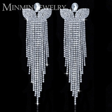 Large Dangle Drop Earrings Wedding Crystal Jewelry, Big Butterfly Earrings Woman EH221