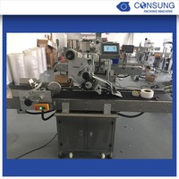 High quality automatic plastic pillow bag labeling machine
