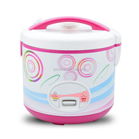 White deluxe electric rice cooker with steamer no brand