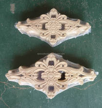 antique imitation style wood decorative carved flower onlays