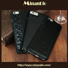 top selling crocodile texture genuine leather mobile phone letaher case for iphone 6 for cell phone