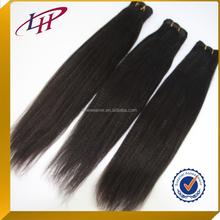 Cheap price light yaki straight Brazilian remy human hair weave