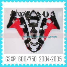 Aftermarket ABS Custom Fairing Body Kit Quality ABS motorcycle Fairing for SUZUKI GSXR 600/750 2004 2005