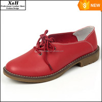 Manufacture , 2016 New Genuine Leather Women Shoe Casual Oxford Shoes For Women Flat Shoes Ladies Lacing Loafers Zapatos Mujer