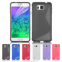 Pink blue black purple tpu phone case for Samsung Galaxy Alpha