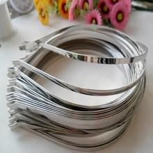 5mm width Custom plain bulk metal headband for DIY hair accessories