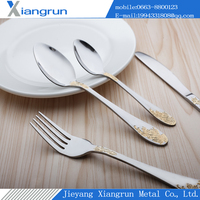 gold-plated fancy party cutlery set G-1