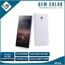 Camera 13.0MP 540 x 960 Pixels 5.0 inch Screen Smart Phone, Dual SIM Dual Standby 3G Mobile Phone