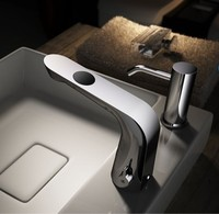Electric Chrome / Nickel Automatic Bathroom Faucet