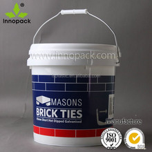 10 liter plastic buckets for packaging food/paint/chemical/liquid