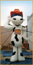 giant advertising inflatable milk cow mascot