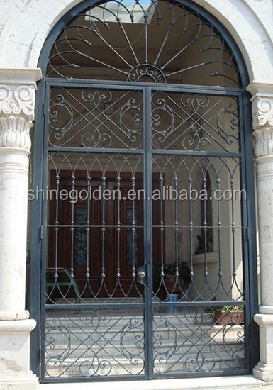 Decorative Steel Front Entry Doors : Wrought iron entry front door custom metal exterior