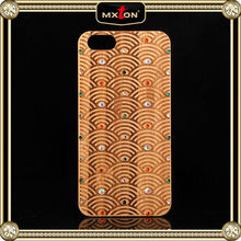 With Custom Printed Logo Diamond Setting Cherry Wood For Kate Spade For Iphone 5 Case