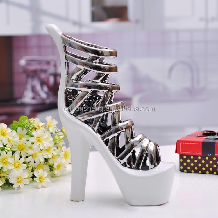 Ceramic decorative high heel shoe flower vase buy high heel vase
