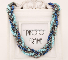 China wholesale women accessories no.SN15129 beaded fashionable jewelry necklace