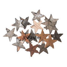 Natural Star Birch Bark Ornaments Embellishments Findings For Decorating