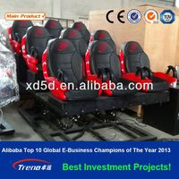 electric 3 DOF system 4 seats cinema chair & mobile 5d cinema
