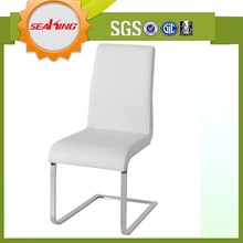 Made in china comfortable leather rococo style white dining chair