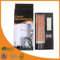 drawing pencil set with Aluminium sharpener and eraser
