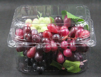 disposable plastic fruit packaging container grapes tray