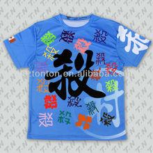 100% polyester sublimation printed tshirt manufacturer