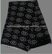 de alta calidad de felpa de terciopelo color de la tela con piedras