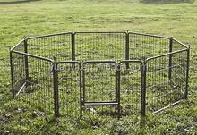 Large dog fences portable/metal pet enclosure/cheap pet play pen folding outdoor