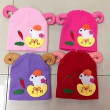 cute sheep knitted hat lovely animal hat children's knitted beanie