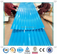 zinc coating 60g-120g long span color coated corrugated roofing sheet