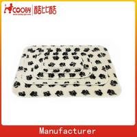 100*70cm Pet Dog Cat Puppy Kitten Soft Blanket Doggy Warm Bed Mat Paw Print Cushion Pet Blanket