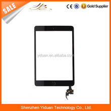 100% Warranty For Apple iPad Mini 3 Digitizer Touch Screen With IC Chip and Camera Holder