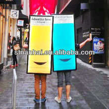 J1B-087 Top quality New media double faces LED Moving advertising Boards Suppliers with lithium battery