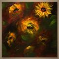 el más reciente a mano de flores de pintura de tela para la decoración
